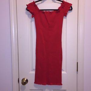 Glamorous red dress